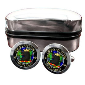 【送料無料】メンズアクセサリ— スコットランドカフリンクスボックスmaclaren scottish clan crest cufflinks amp; box