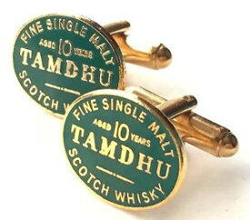 【送料無料】メンズアクセサリ— モルトスコッチウイスキーエナメルカフリンクスボックスtamdhu malt scotch whisky enamel crested cufflinks n95 gift boxed