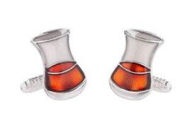 【送料無料】メンズアクセサリ— シマメノウカフスリンクボックスウイスキーグラスカフスリンクwhisky glass cufflinks for men presented in onyx art cufflink gift box