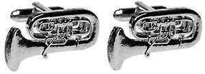 【送料無料】メンズアクセサリ? チューバカフスリンクcontinental tuba silverplated cufflinks