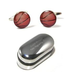 【送料無料】メンズアクセサリ— バスケットボールバスケットボールカフリンクスボックスbasketball player, basket ball cufflinks amp; engraved gift box