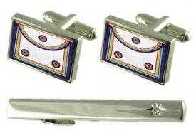 【送料無料】メンズアクセサリ— タイクリップメソニックロイヤルアークレガリアエプロンカフスボタンセットgift set tie clip masonic royal ark regalia apron cufflinks