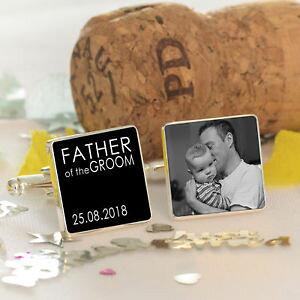【送料無料】メンズアクセサリ? カフスボタンpersonalised father of the groom wedding photo cufflinks wedding party gift