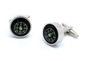 【送料無料】メンズアクセサリ? ボックスコンパスカフリンクスworking compass 3d cufflinks in gift box