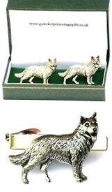 【送料無料】メンズアクセサリ— ジャーマンシェパードカフスボタンタイクリップバースライドメンズアルザスセットgerman shepherd cufflinks amp; tie clip bar slide mens set alsatian poilce dog gift