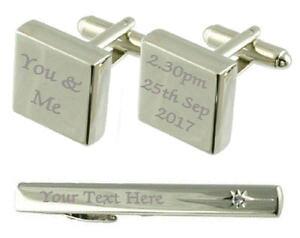 【送料無料】メンズアクセサリ? カフスボタンタイクリップボックスyou amp; me engraved cufflinks tie clip box set