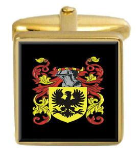 【送料無料】メンズアクセサリ? イギリスカフスボタンボックスコートvinning england family crest surname coat of arms gold cufflinks engraved box