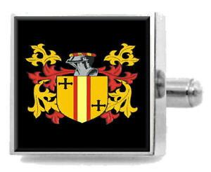 【送料無料】メンズアクセサリ? イギリスカフスボタンボックスcaldicot england heraldry crest sterling silver cufflinks engraved box