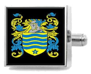 【送料無料】メンズアクセサリ? イギリスカフスボタンボックスworkesley england heraldry crest sterling silver cufflinks engraved box