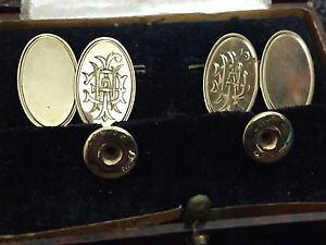 【送料無料】メンズアクセサリ? ビンテージゴールドアールデコスタッドボルトセットオリジナルボックスグアテマラvintage gold art deco cufflink and stud set in original box gt