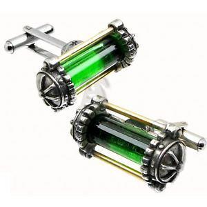【送料無料】メンズアクセサリ? ピューターカフスボタンブランドalchemy empire steampunk miasmatic reactor core pewter cufflinks brand