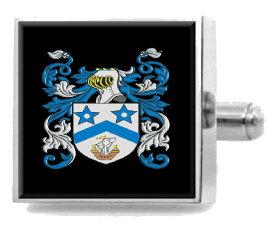 【送料無料】メンズアクセサリ— マクラーレンスコットランドカフスリンクケースmclaren scotland family crest surname coat of arms cufflinks personalised case