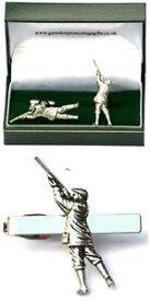 【送料無料】メンズアクセサリ— ゲームシューターカフスボタンタイクリップバースライドメンズクレーピジョンセットgame shooter cufflinks amp; tie clip bar slide mens gift set clay pigeon present