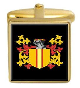 【送料無料】メンズアクセサリ? アイルランドカフスボタンボックスコートkavanagh ireland family crest surname coat of arms gold cufflinks engraved box
