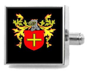 【送料無料】メンズアクセサリ? アイルランドカフスボタンボックスrutledge ireland heraldry crest sterling silver cufflinks engraved box