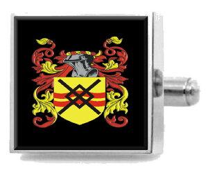 【送料無料】メンズアクセサリ? イギリスカフスボタンボックスsaunderson england heraldry crest sterling silver cufflinks engraved box