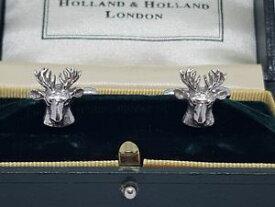 【送料無料】メンズアクセサリ— オランダカフスボタンシルバーハンティング listingholland amp; holland cufflinks silver 925 shootinghunting stagstarnish free