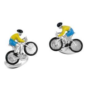 【送料無料】メンズアクセサリ— スターリングシルバーバイクライダーカフリンクスsterling silver bike amp; rider cufflinks