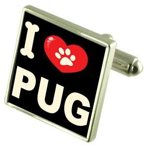 【送料無料】メンズアクセサリ? シルバーカフスボタンマネークリップsilver 925 cufflinks amp; bond money clip i love pug
