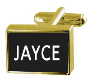 【送料無料】メンズアクセサリ? ボックスカフリンクスengraved box goldtone cufflinks name jayce