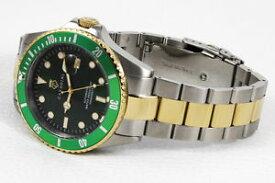 【送料無料】腕時計 ウォッチ ダイバーバーマッシフbuceador reloj automtico 30 bar wd macizo en verde advantage xxl bicolor