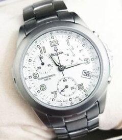 【送料無料】腕時計 ウォッチ クロノグラフraro orologio uomo bulova cronografo svizzero in acciaio lucido satinato wr100
