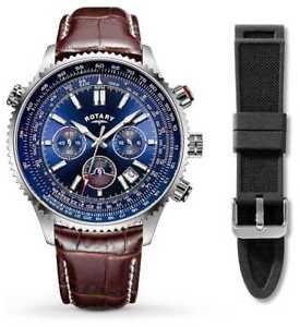 【送料無料】腕時計 ウォッチ ロータリーゴムキットストラップrotary correa de caucho negro para hombre de gs0069905kit relojes 34
