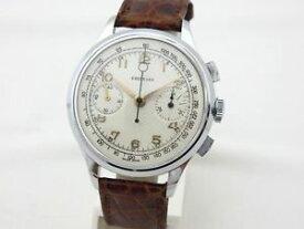 【送料無料】腕時計 ウォッチ クロノグラフボックスオンeberhard cronografo acciaio anni 50 manuale 37mm landeron48 revisionato with box