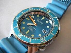 【送料無料】腕時計 ウォッチ プロフェッショナルメートルダイビングアッズーロsquale professional ocean 500mt acciaio lucido, cinturino diving azzurro