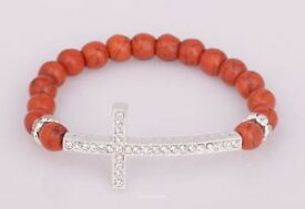 【送料無料】ブレスレット アクセサリ— ファッションクリスタルシルバークロスブレスレットサイドクロスブレスレットfashion sideway crystal silver cross bracelet side cross bracelets