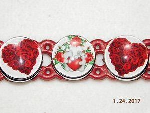 【送料無料】ブレスレット アクセサリ? スナップメタルボタンバレンタインデーハートブレスレット snap metal charm button valentines day red leather heart bracelet wcharms