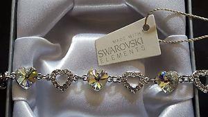 【送料無料】ブレスレット アクセサリ— スワロフスキーエレメントボックスブレスレットライトゴールドクリスタル¥genuine swarovski elements gift boxed bracelet light gold crystal 35
