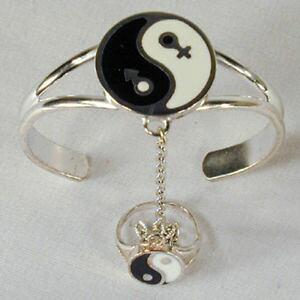 【送料無料】ブレスレット アクセサリ? ヤンスレーブブレスレット#チェーンリングレディースシルバーunity ying yang slave bracelet 59 chain ring women ladies silver