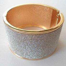 【送料無料】ブレスレット アクセサリ— ブレスレットハードスレーブローズゴールドカラーホワイトwomen bracelet hard slave rose gold color glitter white 131 j