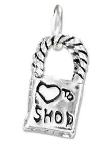 【送料無料】ブレスレット アクセサリ— ハートショップショッピングバッグss three dimensional heart to shop shopping bag charm
