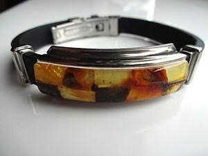 【送料無料】ブレスレット アクセサリ? スマートバルトブレスレット stylish real baltic amber bracelet leather