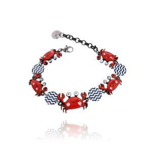 【送料無料】ブレスレット アクセサリ? ブレスレットワタリガニlol bijoux bracelet crabs red and blue lolilota