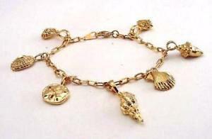 【送料無料】ブレスレット アクセサリ? kゴールドメッキシーシェルブレスレットライフタイム 18k gold plated sea shell charm bracelet 8 lifetime warranty