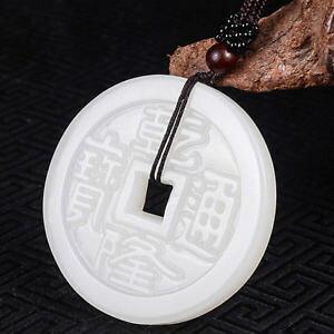 【送料無料】ブレスレット アクセサリ? チャイニーズホワイトペンダントコインロープabout beautiful exquisite chinese white natural jade pendant amulet coin rope