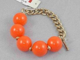【送料無料】ブレスレット アクセサリ— ケネスニューヨークオレンジアクリルボールストレッチブレスレットkenneth cole york goldtone bright orange acrylic ball half stretch bracelet