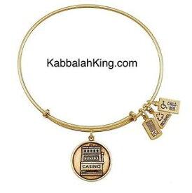 【送料無料】ブレスレット アクセサリ— アメリカスロットマシンブレスレットゴールドブレスレットwind amp; fire slot machine charm bracelet gold expandable bracelet made in usa