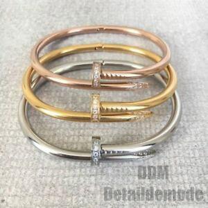 【送料無料】ブレスレット アクセサリ? ブレスレットネイルラインストーンシルバーゴールドピンクゴールドスタッドボルトbracelet nail luxury rhinestone silver, gold, gold pink love bracciale studs