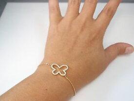 【送料無料】ブレスレット アクセサリ— ブレスレットkゴールドバタフライカットアウトdelicate butterfly cz bracelet 14k gold filled cutout butterfly charm