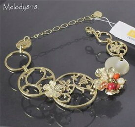 【送料無料】ブレスレット アクセサリ— ボームブレスレットビンテージシルケンゴールドピーチコーラルスワロフスキーbohm bracelet flower vintage heirloom silken gold peach coral swarovski bnwt