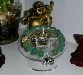 【送料無料】ブレスレット アクセサリ— スターリンググリーンadventurineヨガストレッチブレスレットsterling silver elephant green adventurine wealth yoga gemstone stretch bracelet