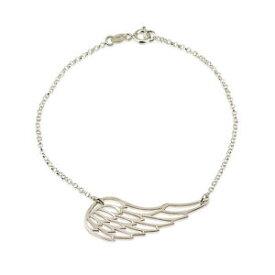 【送料無料】ブレスレット アクセサリ— フェザーウィングドロップブレスレットスターリングシルバーパーソナライズチェーンカットfeathered wing drop bracelet sterling silver cut out personalized length chain
