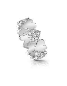 【送料無料】ブレスレット アクセサリ? リングブーケコレクションシルバーring guess jewelry heart bouquet collection ubr8502452 silvercrystals