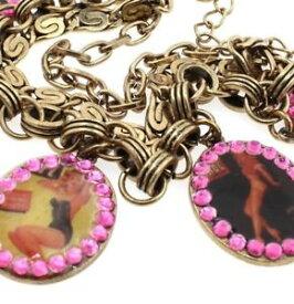 【送料無料】ブレスレット アクセサリ— pilgrimブレスレットfantasticピンナップガールヴィンテージゴールドピンクスワロフスキーbnwtpilgrim bracelet fantastic pinup girls charm vintage gold pink swaro