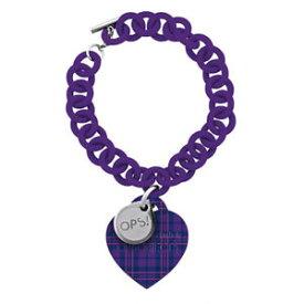 【送料無料】ブレスレット アクセサリ— ブレスレットタータンチェックメスgenuine ops bracelet ops tartan female purple opsbr192
