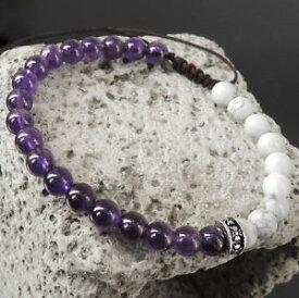 【送料無料】ブレスレット アクセサリ— アメジストブレスレットシルバークロスamethyst compassion amp; braided adjustable white turqunite bracelet silver cross 896